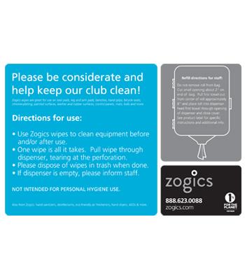 Zogics Z800 Anti Bacterial Wipes Case Kinetic